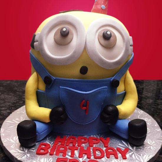 minion cakes buttercream vanilla 3D cakes