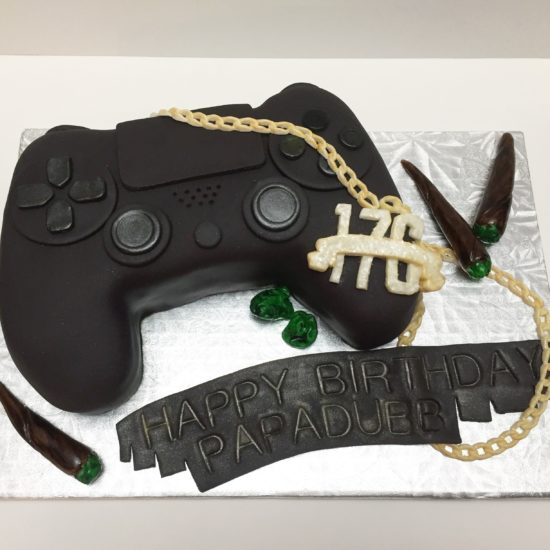 PS4 birthday cake