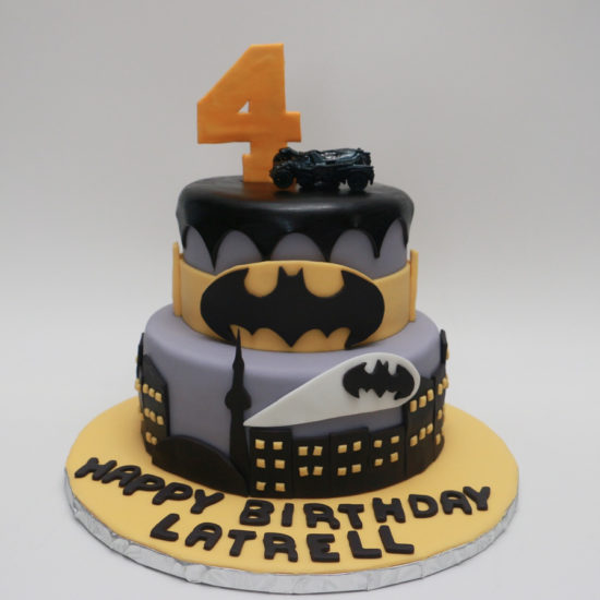 batman cake chocolate ganache birthday