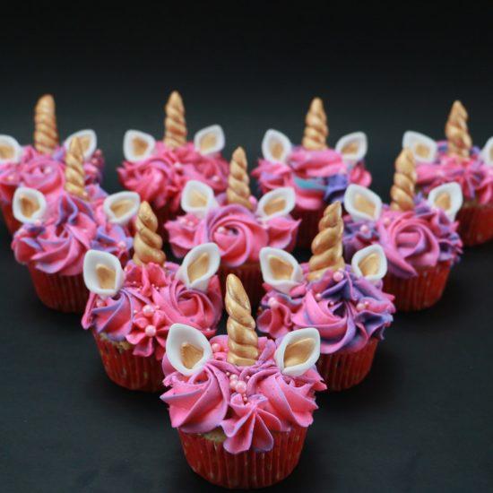 Vanilla confetti unicorn cupcakes